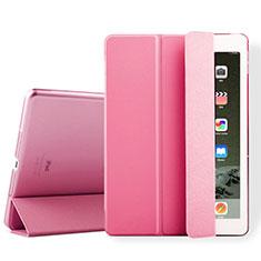 Apple iPad Air 2用手帳型 レザーケース スタンド アップル ピンク