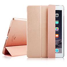 Apple iPad Air 2用手帳型 レザーケース スタンド アップル ローズゴールド