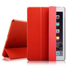 Apple iPad Air 2用手帳型 レザーケース スタンド アップル レッド