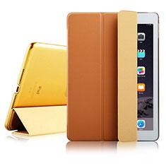 Apple iPad Air 2用手帳型 レザーケース スタンド アップル ブラウン
