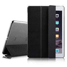 Apple iPad Air 2用手帳型 レザーケース スタンド アップル ブラック