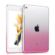 Apple iPad Air 2用極薄ソフトケース グラデーション 勾配色 クリア透明 アップル ピンク