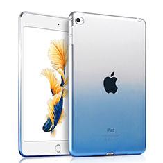 Apple iPad Air 2用極薄ソフトケース グラデーション 勾配色 クリア透明 アップル ネイビー