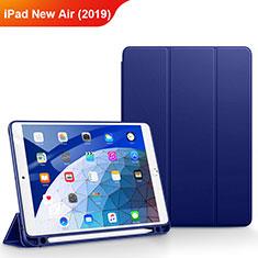 Apple iPad Air 3用手帳型 レザーケース スタンド アップル ネイビー