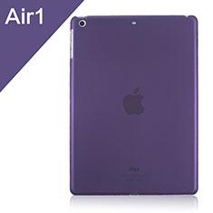 Apple iPad Air用極薄ケース クリア透明 プラスチック アップル パープル