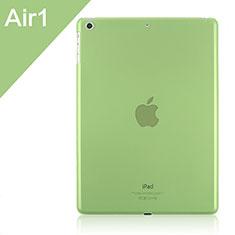 Apple iPad Air用極薄ケース クリア透明 プラスチック アップル グリーン