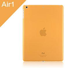 Apple iPad Air用極薄ケース クリア透明 プラスチック アップル オレンジ