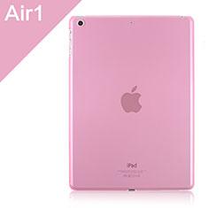 Apple iPad Air用極薄ケース クリア透明 プラスチック アップル ピンク