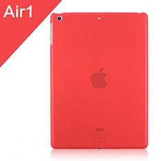 Apple iPad Air用極薄ケース クリア透明 プラスチック アップル レッド