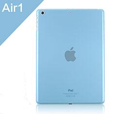 Apple iPad Air用極薄ケース クリア透明 プラスチック アップル ブルー