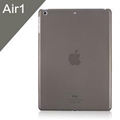 Apple iPad Air用極薄ケース クリア透明 プラスチック アップル グレー