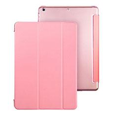 Apple iPad Air用手帳型 レザーケース スタンド アップル ピンク