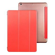 Apple iPad Air用手帳型 レザーケース スタンド アップル レッド