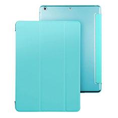 Apple iPad Air用手帳型 レザーケース スタンド アップル ブルー