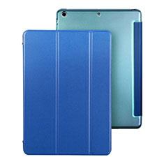 Apple iPad Air用手帳型 レザーケース スタンド アップル ネイビー