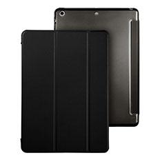 Apple iPad Air用手帳型 レザーケース スタンド アップル ブラック