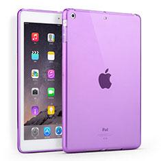 Apple iPad Air用極薄ソフトケース シリコンケース 耐衝撃 全面保護 クリア透明 アップル パープル