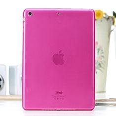 Apple iPad Air用極薄ソフトケース シリコンケース 耐衝撃 全面保護 クリア透明 アップル ローズレッド
