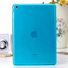 Apple iPad Air用極薄ソフトケース シリコンケース 耐衝撃 全面保護 クリア透明 アップル ネイビー