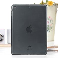 Apple iPad Air用極薄ソフトケース シリコンケース 耐衝撃 全面保護 クリア透明 アップル グレー