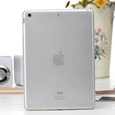 Apple iPad Air用極薄ソフトケース シリコンケース 耐衝撃 全面保護 クリア透明 アップル ホワイト