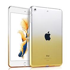 Apple iPad Air用極薄ソフトケース グラデーション 勾配色 クリア透明 アップル イエロー
