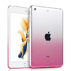 Apple iPad Air用極薄ソフトケース グラデーション 勾配色 クリア透明 アップル ピンク