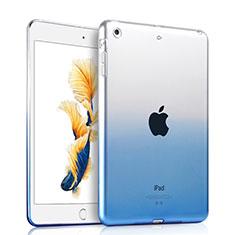 Apple iPad Air用極薄ソフトケース グラデーション 勾配色 クリア透明 アップル ネイビー