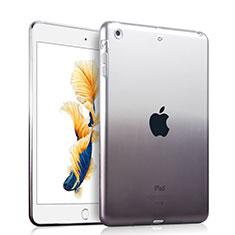 Apple iPad Air用極薄ソフトケース グラデーション 勾配色 クリア透明 アップル グレー
