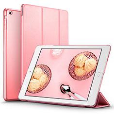 Apple iPad Air用手帳型 レザーケース スタンド L01 アップル ピンク