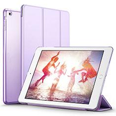 Apple iPad Air用手帳型 レザーケース スタンド L01 アップル パープル
