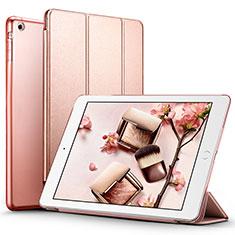 Apple iPad Air用手帳型 レザーケース スタンド L01 アップル ローズゴールド