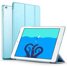 Apple iPad Air用手帳型 レザーケース スタンド L01 アップル ブルー