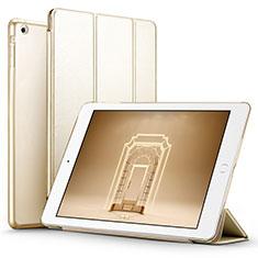 Apple iPad Air用手帳型 レザーケース スタンド L01 アップル ゴールド
