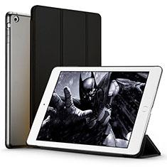 Apple iPad Air用手帳型 レザーケース スタンド L01 アップル ブラック