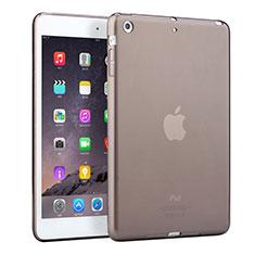 Apple iPad Mini 2用極薄ソフトケース シリコンケース 耐衝撃 全面保護 クリア透明 アップル グレー