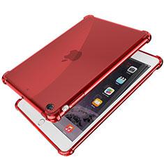 Apple iPad Mini 3用極薄ソフトケース シリコンケース 耐衝撃 全面保護 クリア透明 H01 アップル レッド