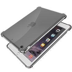 Apple iPad Mini 3用極薄ソフトケース シリコンケース 耐衝撃 全面保護 クリア透明 H01 アップル ブラック