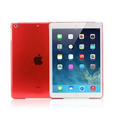 Apple iPad Mini 3用極薄ケース クリア透明 プラスチック アップル レッド
