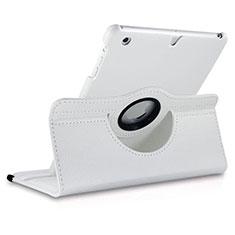 Apple iPad Mini 3用回転式 スタンド レザーケース アップル ホワイト