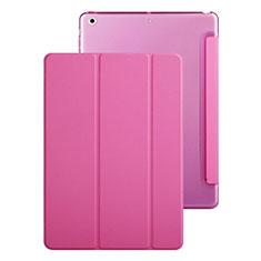 Apple iPad Mini 3用手帳型 レザーケース スタンド アップル ローズレッド