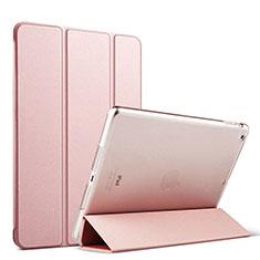Apple iPad Mini 3用手帳型 レザーケース スタンド アップル ローズゴールド