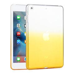 Apple iPad Mini 3用極薄ソフトケース グラデーション 勾配色 クリア透明 アップル イエロー