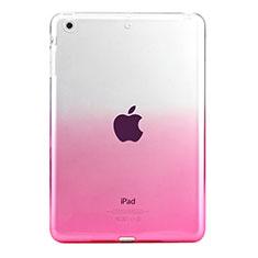 Apple iPad Mini 3用極薄ソフトケース グラデーション 勾配色 クリア透明 アップル ピンク
