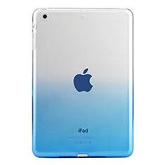 Apple iPad Mini 3用極薄ソフトケース グラデーション 勾配色 クリア透明 アップル ネイビー