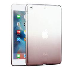 Apple iPad Mini 3用極薄ソフトケース グラデーション 勾配色 クリア透明 アップル グレー