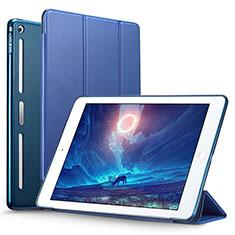 Apple iPad Mini 3用手帳型 レザーケース スタンド L05 アップル ネイビー