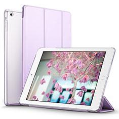 Apple iPad Mini 3用手帳型 レザーケース スタンド L07 アップル パープル
