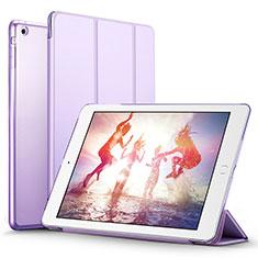 Apple iPad Mini 3用手帳型 レザーケース スタンド L06 アップル パープル