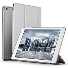 Apple iPad Mini 3用手帳型 レザーケース スタンド L06 アップル シルバー